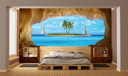 Photo wallpaper Paradise Island view